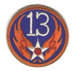 13th Air Foce Patch