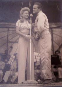 Francis Langford & Bob Hope performing at Hollandia Photograph courtesy of a friend
