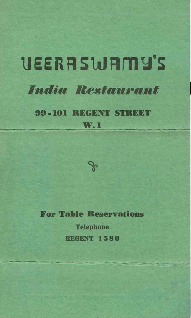 Veeraswamy's - March 3, 1945 #1