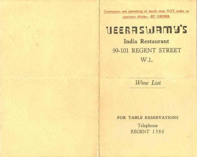 Veeraswamy's - March 3, 1945 #3
