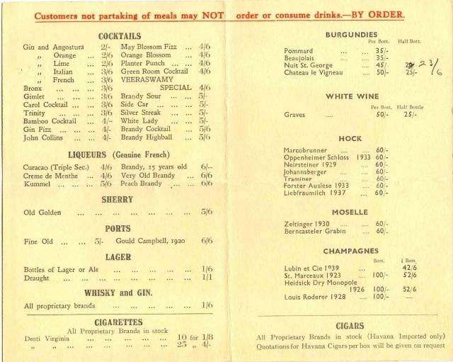 Veeraswamy's - March 3, 1945 #4